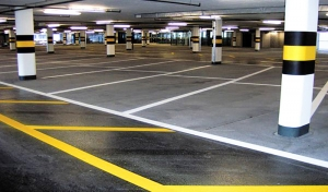 parking garage striping vezos